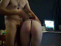 Schläge auf den nackten Arsch