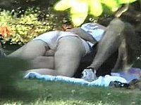 Paar privat im Freien